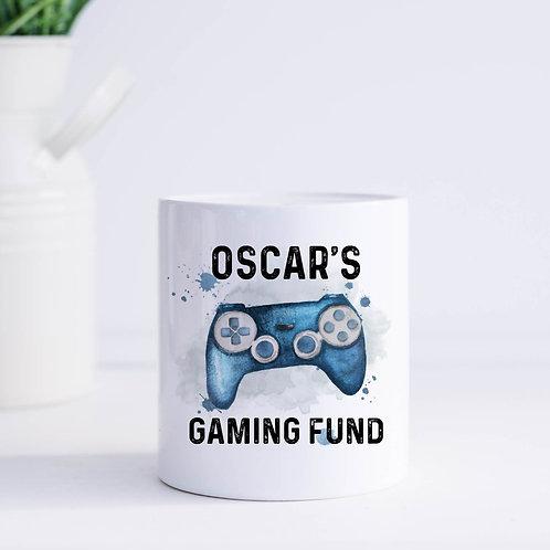 Personalised Gaming Fund Money Box