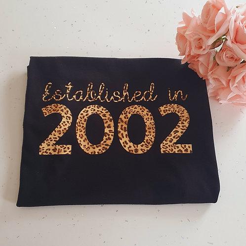 Established Birth Year T-Shirt