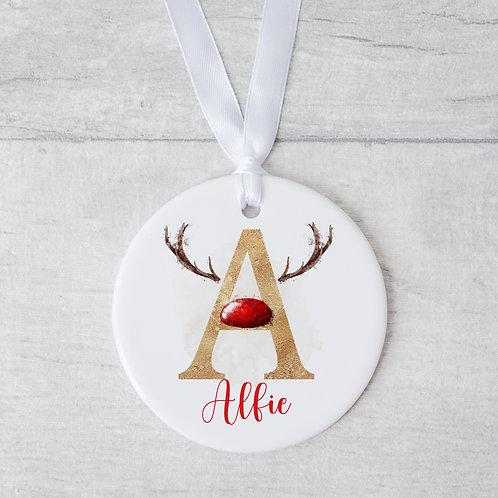 Christmas Reindeer Bauble