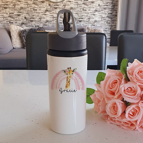 Personalised Giraffe Water Bottle