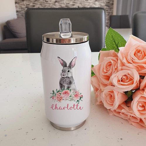 Personalised Grey Rabbit Cooler