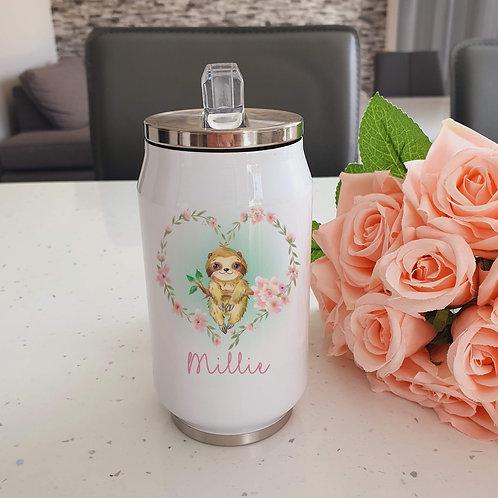 Personalised Sloth Water Bottle