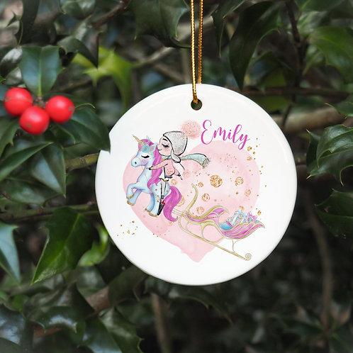 Christmas Unicorn Bauble