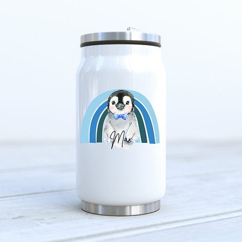 Personalised Penguin Cola Can Drinks Bottle