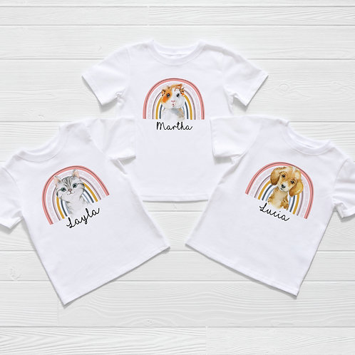 Rainbow Guinea Pig, Puppy Or Kitten T-Shirt