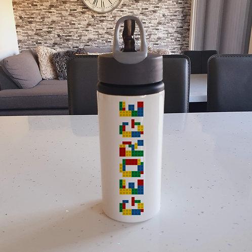 Personalised Building Bricks Water Bottle