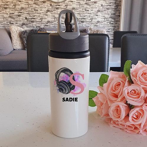 Personalised Girl  Gamer Water Bottle