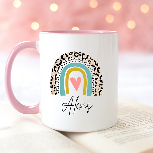 Personalised Rainbow Mug