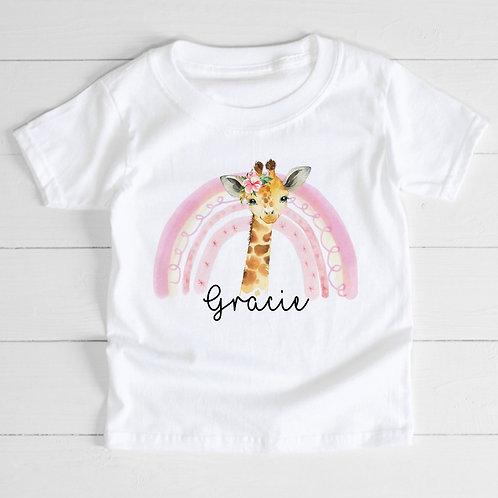 Personalised Giraffe T-Shirt