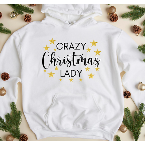 Crazy Christmas Lady Sweater