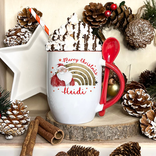 Santa Mug With Spoon