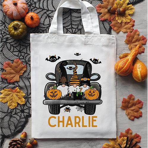 Halloween Gnome Trick Or Treat Bag