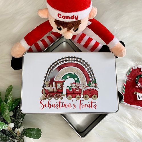 Personalised Mouse Train Treat Tin