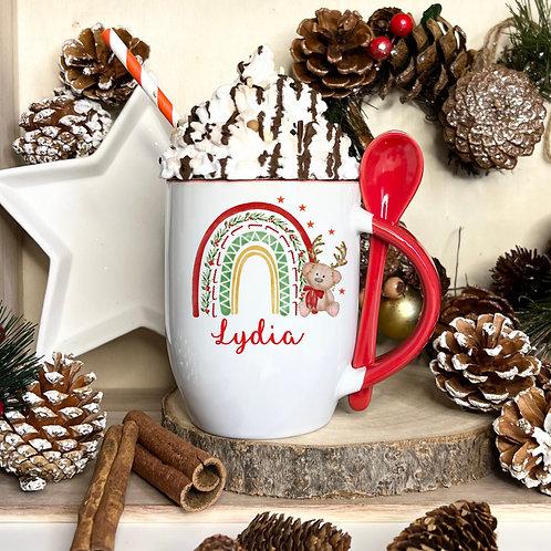 Christmas Mug With Spoon