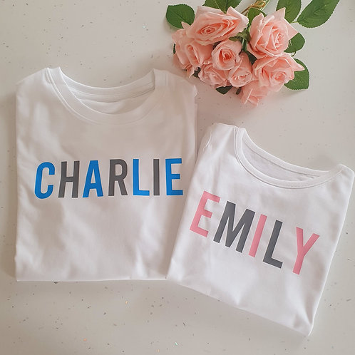 Personalised T-Shirt - More Colour Options