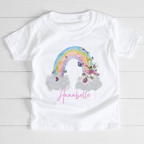 Personalised Rainbow T-Shirt