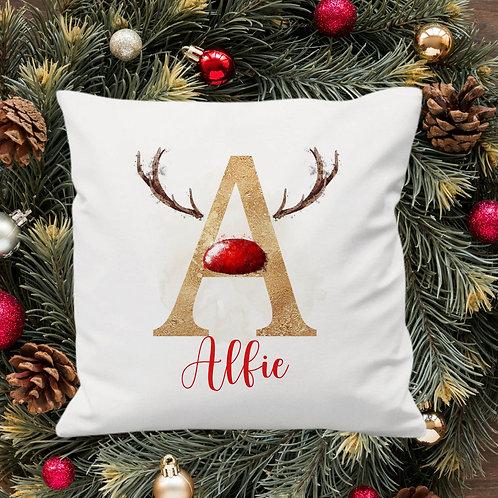 Personalised Reindeer Cushion