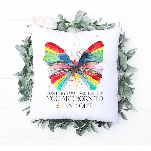 Rainbow Butterfly Cushion