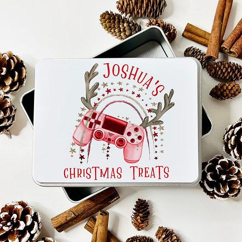 Christmas Gamer Treat Tin