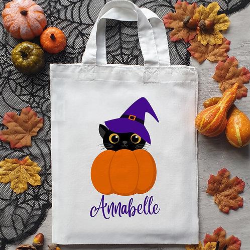 Pumpkin Cat Trick Or Treat Bag
