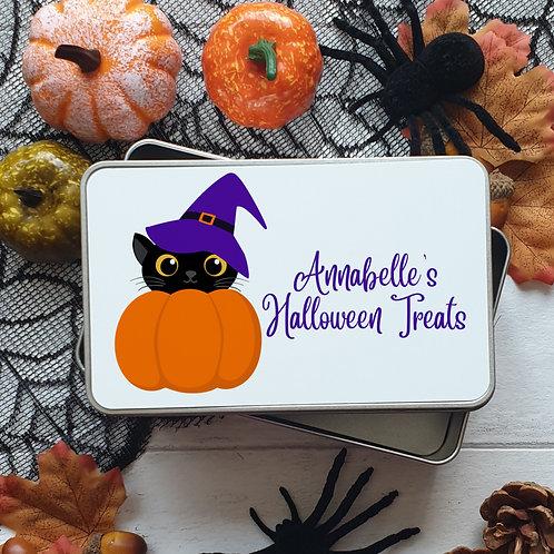 Halloween Treat Tin