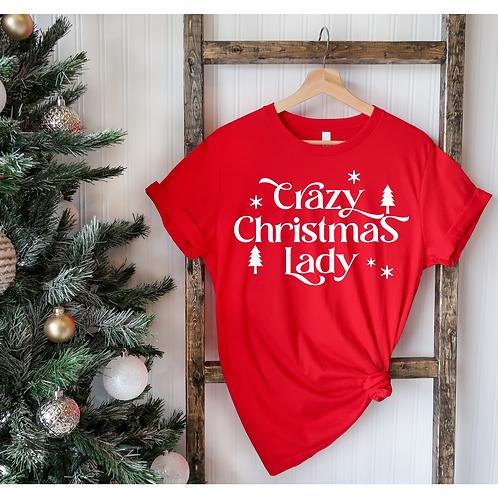 Crazy Christmas Lady T-Shirt