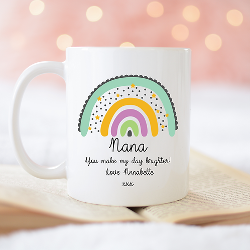 Custom Text Rainbow Mug
