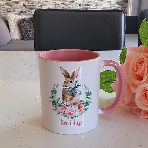 Personalised Rabbit Mug
