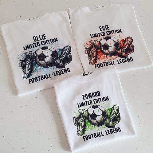 Personalised Football Legend T-hirt