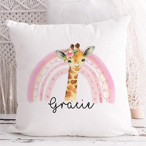 Personalised Giraffe Cushion