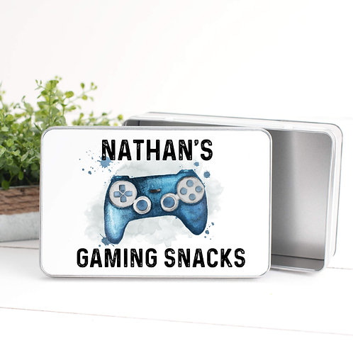 Personalised Gaming Snacks Tin