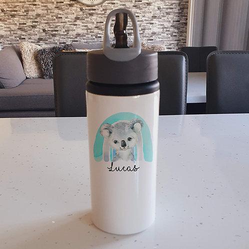 Blue Rainbow Koala Water Bottle
