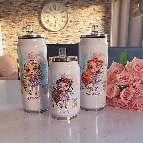 Personalised Summer Girl Cooler Can