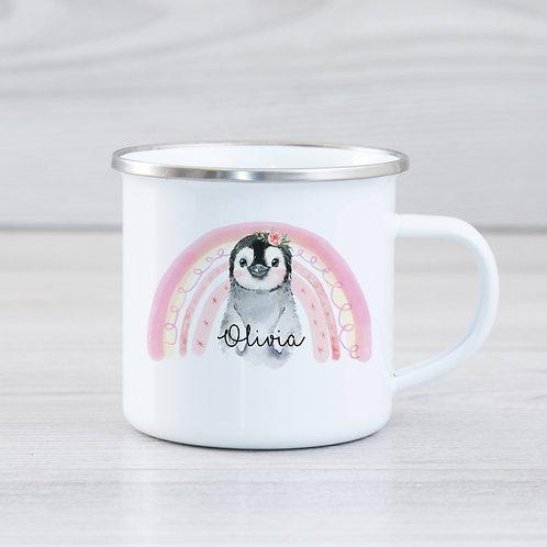 Cute Penguin Enamel Mug