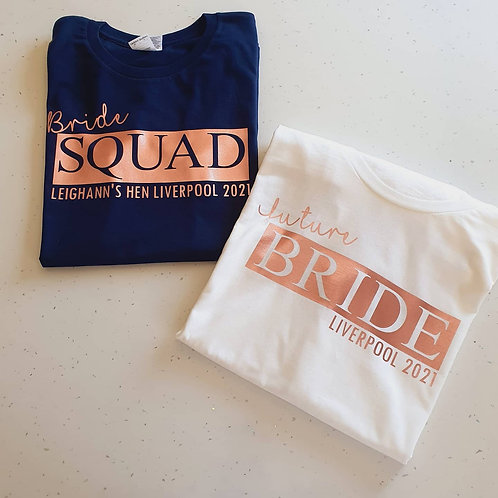 Personalised Hen Party T-Shirts