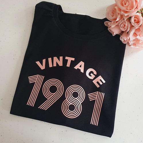 Vintage Birthday T-Shirt More Colours
