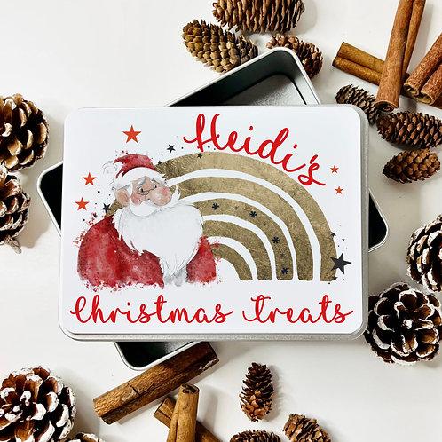 Christmas Santa Treat Tin