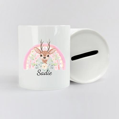 Personalised Deer Money Box