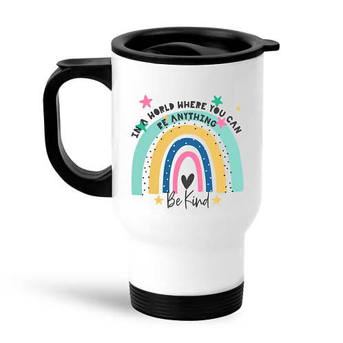 Rainbow Be Kind Travel Mug