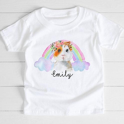 Pastel Rainbow Guinea Pig T-Shirt