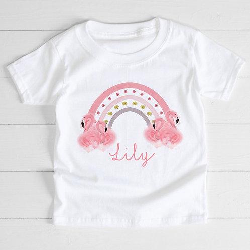 Personalised Flamingo T-Shirt
