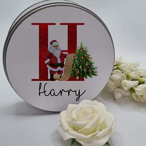 Personalised Santa Tin