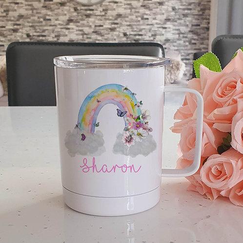 Personalised Rainbow Coffee Mug