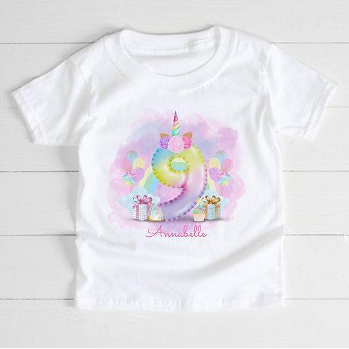 Personalised Birthday Balloon T-Shirt