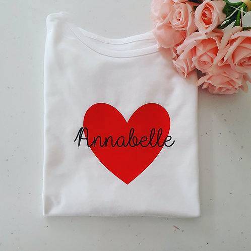 Personalised Valentine's T-Shirt