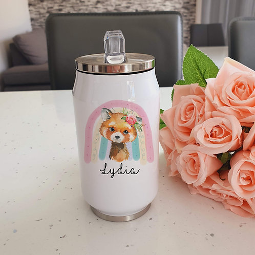 Personalised Red Panda Drinks Bottle