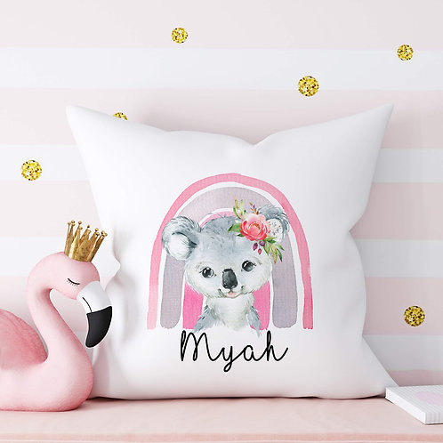 Pink Rainbow Koala Cushion