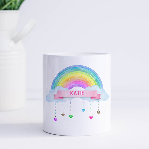 Personalised Rainbow Piggy Bank