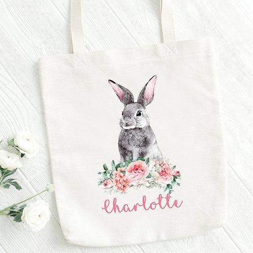 Grey Rabbit Tote Bag