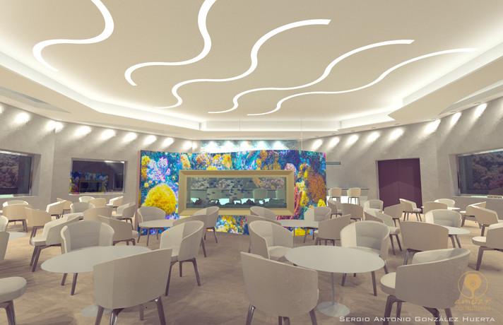 restaurantes  y salones modernos